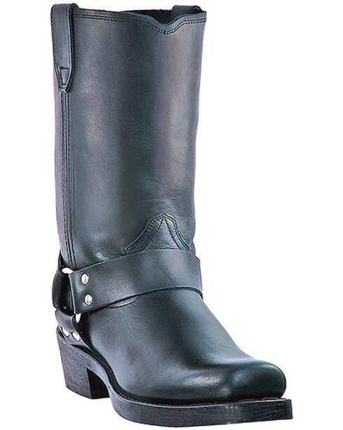"Dingo Men's 11"" Harness Motorcycle Boots, Black, hi-res"