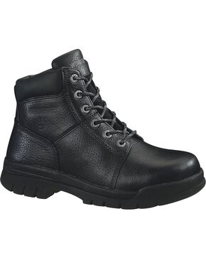 Wolverine Men's Marquette Steel Toe EH Work Boots, Black, hi-res