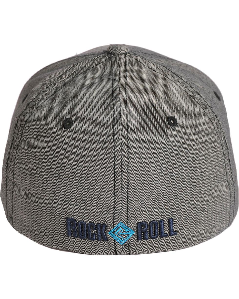 Rock and Roll Cowboy Grey Herringbone Twill Cap , Grey, hi-res