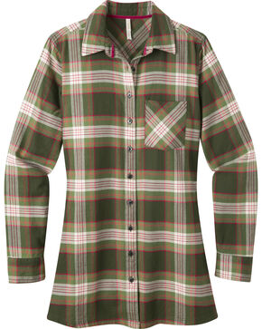 Mountain Khakis Women's Penny Plaid Tunic Shirt, Green, hi-res