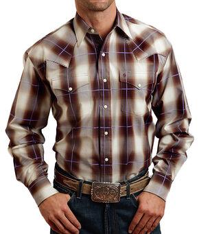 Stetson Men's Washed Plaid Long Sleeve Shirt, , hi-res