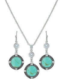 Montana Silversmiths Women's True North Turquoise Jewelry Set, , hi-res
