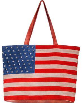 Scully Women's Suede American Flag Handbag, Patriotic, hi-res