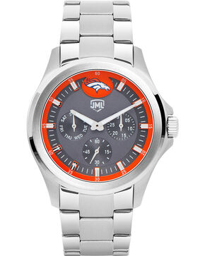 Jack Mason Men's Denver Multi-Function Watch , Silver, hi-res
