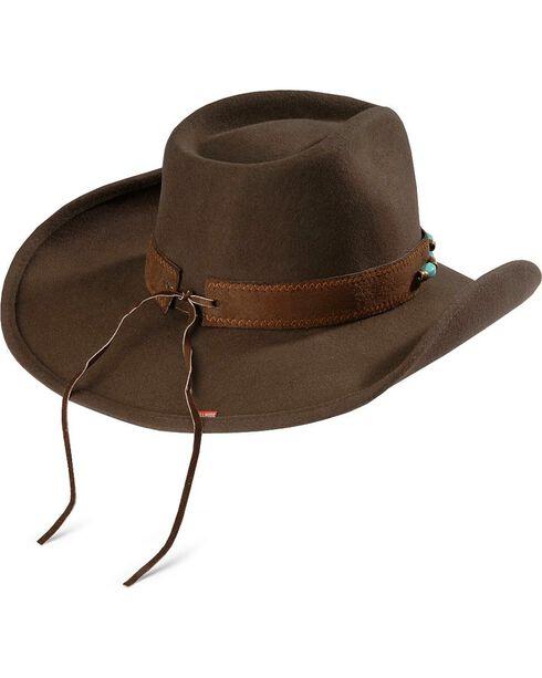 Bullhide Women's Jewel Of The West Wool Hat, Brown, hi-res