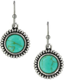 Montana Silversmiths Women's Turquoise Sunflower Earrings , , hi-res