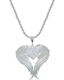 Montana Silversmiths Women's Heart & Wings Pendant Necklace, , hi-res