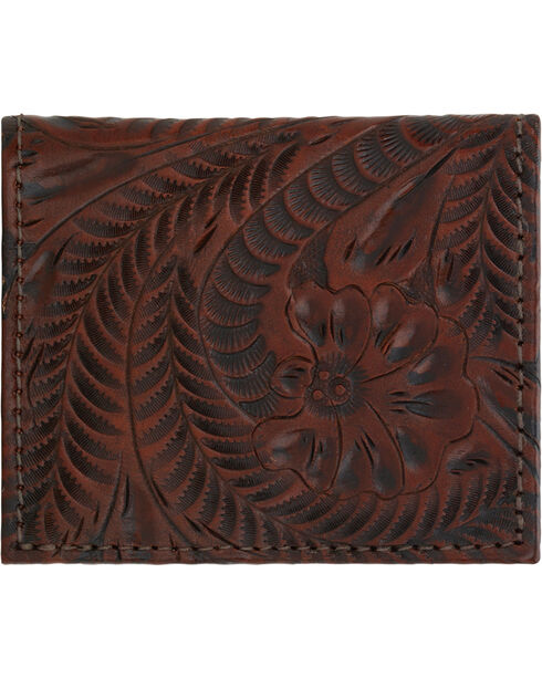American West Women's Bi-fold Boyfriend Wallet, Chestnut, hi-res