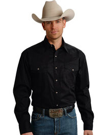 Roper Men's Amarillo Collection Poplin Shirt, , hi-res