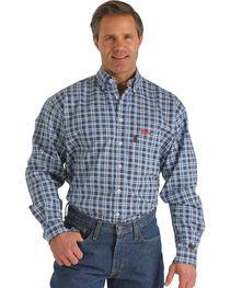 Cinch Men's FR Plaid Long Sleeve Work Shirt, , hi-res