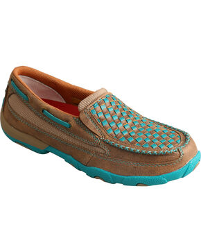 Twisted X Women's Slip-On Driving Mocs, Brown, hi-res