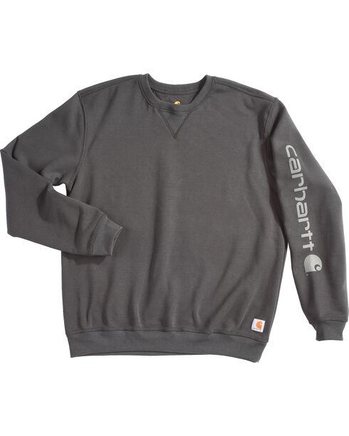 Carhartt Men's Exclusive Graphic Sleeve Sweatshirt , Black, hi-res
