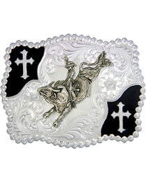 Montana Silversmiths Christian Flourish Bullrider Belt Buckle, , hi-res