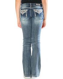 Grace in LA Girls' Blue Aztec Bling Pocket Jeans - Boot Cut , , hi-res