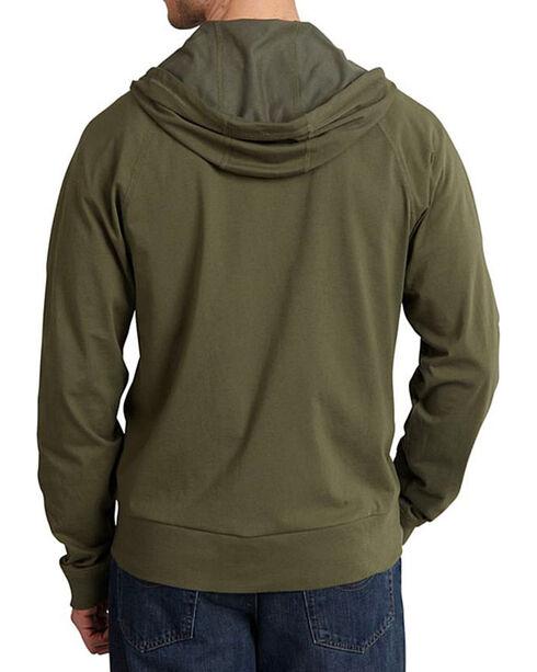 Carhartt Men's Moss Green Force Delmont Zip Front Hoodie , Moss Green, hi-res