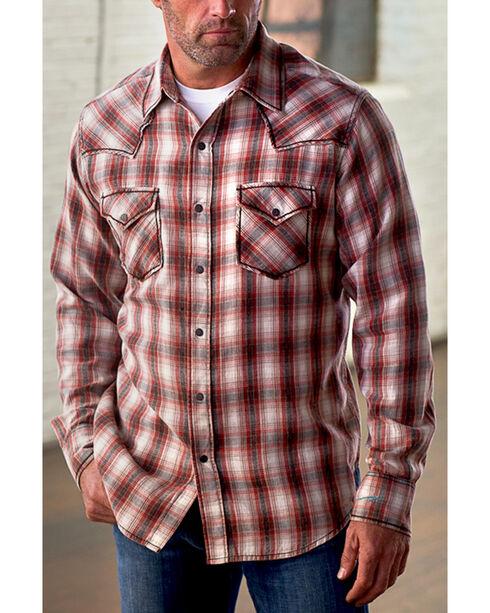Ryan Michael Men's Vintage Dobby Plaid Shirt, Brick, hi-res