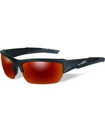 Wiley X Valor Polarized Crimson Black 2 Tone Sunglasses , , hi-res