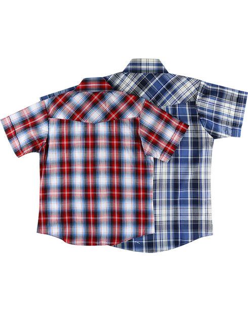 Ely Cattleman Boys' Assorted Plaid Short Sleeve Shirt, Multi, hi-res