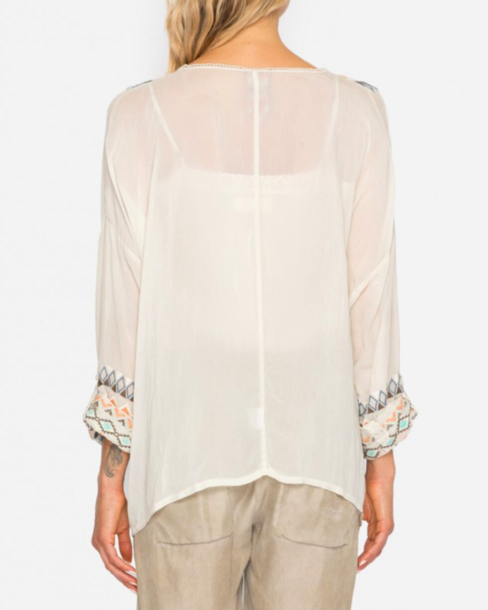 Johnny Was Women's Cream Cenote Button-Down Shirt , Cream, hi-res