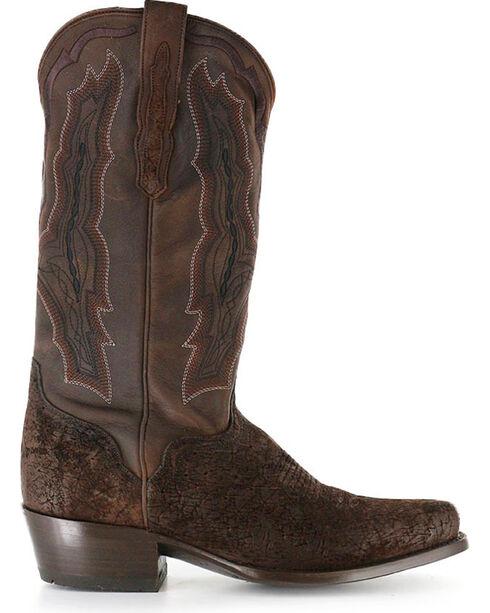 El Dorado Men's Genuine Sueded Hippo Western Boots, Chocolate, hi-res