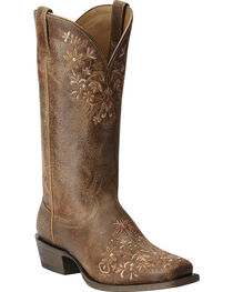 Ariat Women's Ardent Floral Embroidered Western Boots, , hi-res