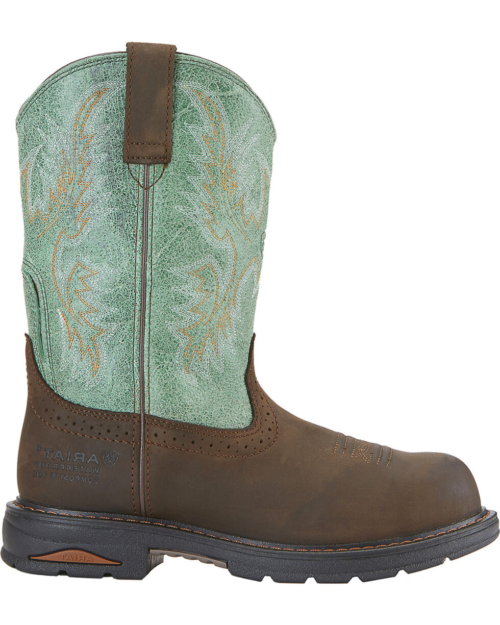 Ariat Women's Tracey Pull-On WP CT Western Work Boots, Distressed, hi-res