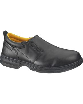 CAT Men's Steel Toe Conclude Slip-On Work Shoes, Black, hi-res