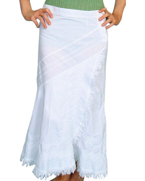 Scully Women's Soutache Skirt, White, hi-res