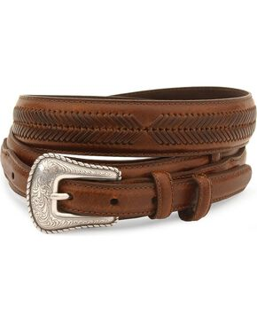 Cody James® Men's Leather Belt, Brown, hi-res