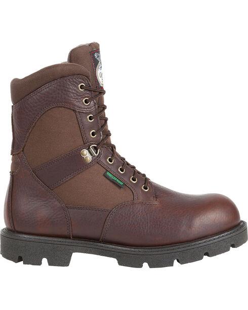 Georgia Men's Homeland Waterproof  Work Boots, Brown, hi-res