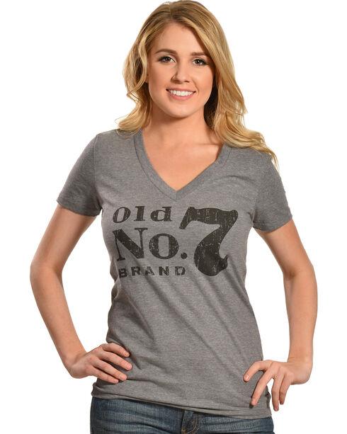 Jack Daniel's Women's Old No. 7 Short Sleeve T-Shirt, Grey, hi-res