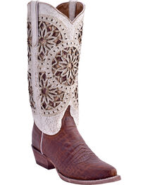 Ferrini Women's Crocodile Belly Print Western Boots - Snip Toe, , hi-res