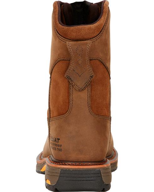 Ariat Men's Composite Sqaure Toe Work Hog Work Boots, Brown, hi-res