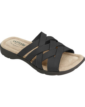 Eastland Women's Black Hazel Sandals , Black, hi-res
