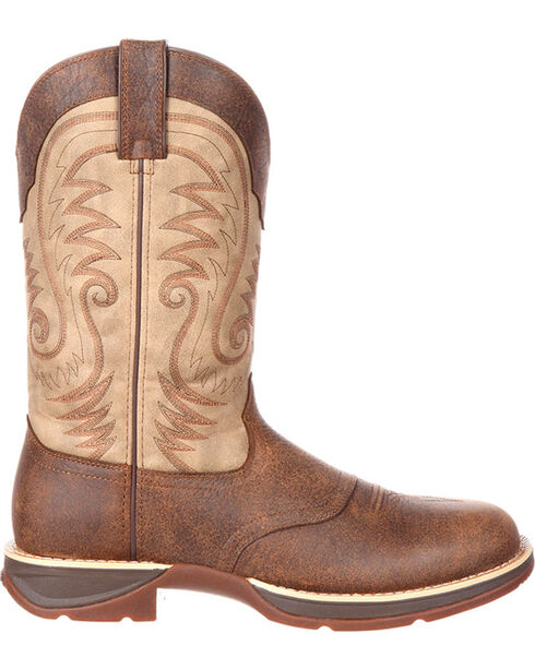Durango Men's Ultra Lite Waterproof Western Work Boots, Brown, hi-res