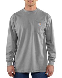 Carhartt Men's Long Sleeve Flame Resistant Force T-Shirt, , hi-res