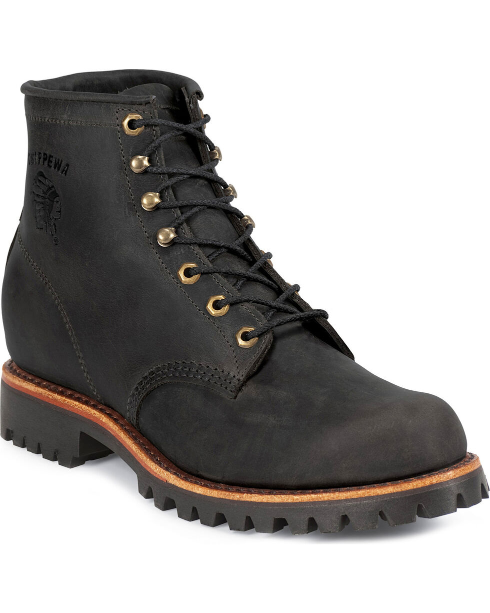 """Chippewa Men's Odessa 6"""" Lace up Work Boots, Black, hi-res"""