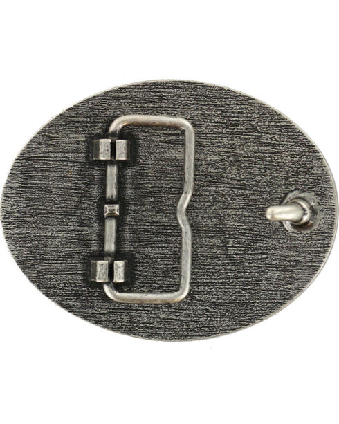 Cody James® Men's Eagle Oval Belt Buckle, Silver, hi-res