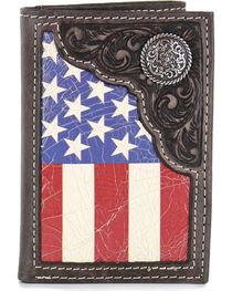 Cody James® Men's American Flag Tri-Fold Wallet, , hi-res