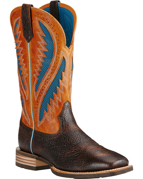 Ariat Men's VentTEK Quickdraw Square Toe Western Work Boots, Brown, hi-res