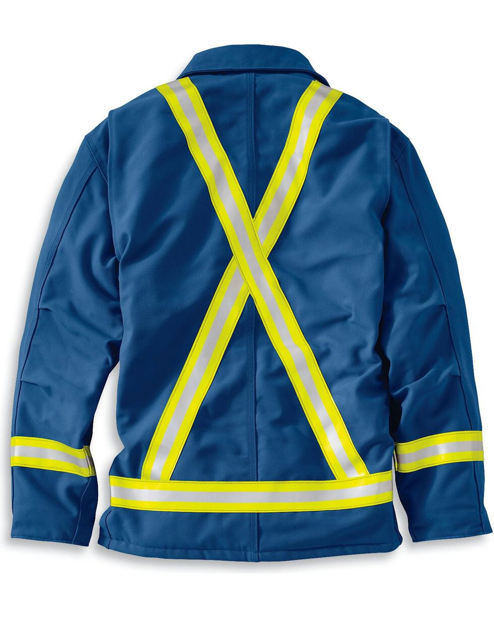 Carhartt Men's FR Traditional Quilt Lined Reflective Coat, Royal, hi-res