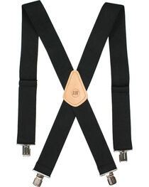American Worker Men's Black Suspenders, , hi-res