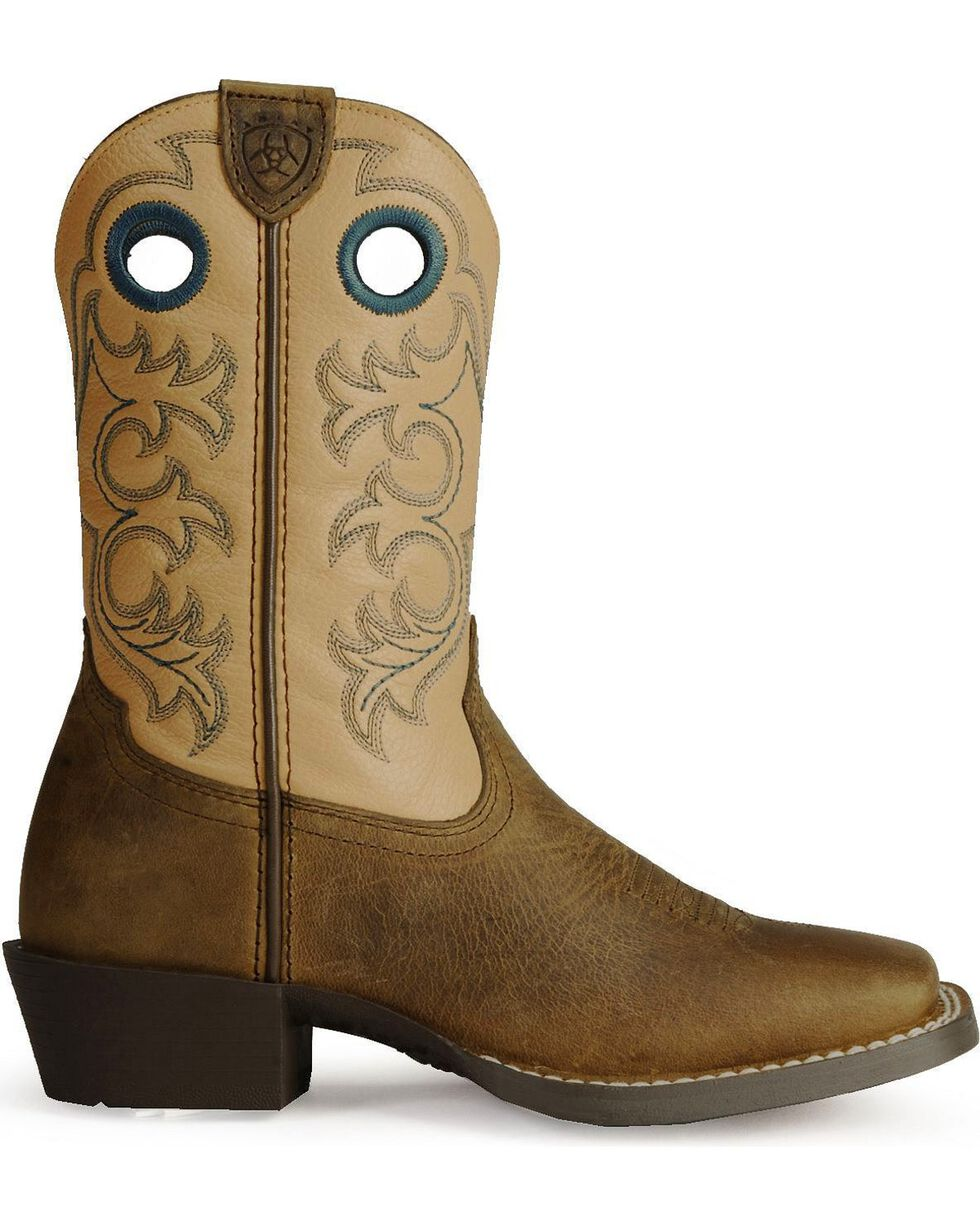 Ariat Youth Crossfire Western Boots, Distressed, hi-res