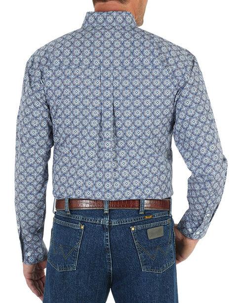 Wrangler George Strait Men's Medallion Shirt - Tall, Blue, hi-res