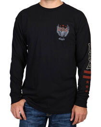 Cody James® Men's Love It or Leave It Long Sleeve Tee, Black, hi-res