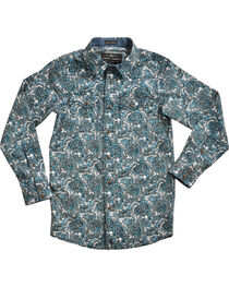 Cody James® Boys' Paisley Patterned Long Sleeve Shirt , , hi-res