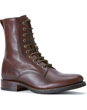 Frye Men's Rand Lace-up Boots - Round Toe, Dark Brown, hi-res