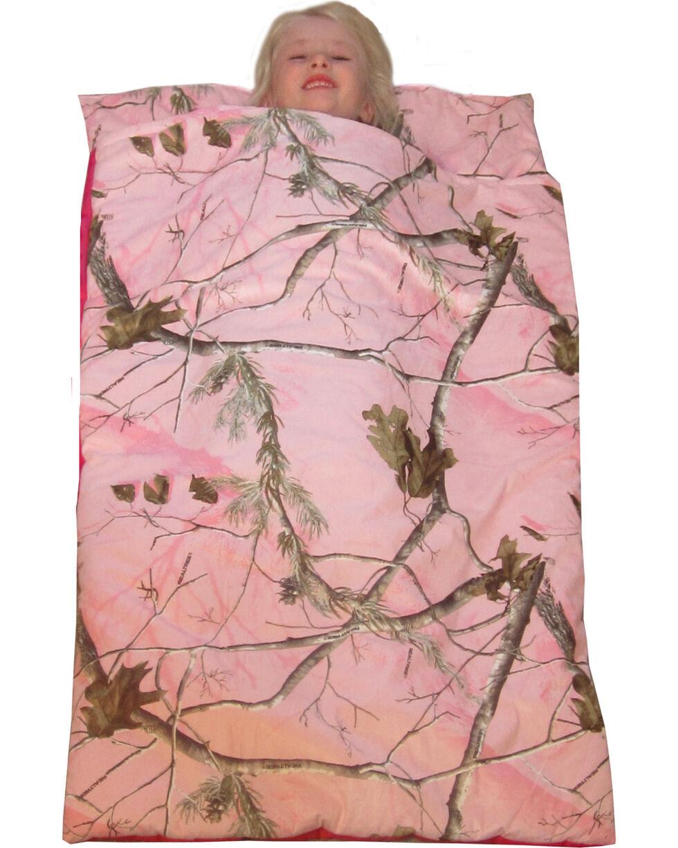 Carstens Home Realtree Pink Deer Pillow Slumber Bag, Camouflage, hi-res