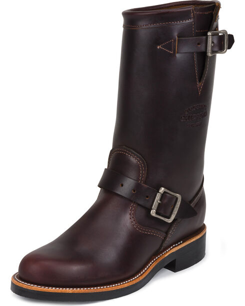 "Chippewa Women's  11"" Engineer Boots, Cognac, hi-res"
