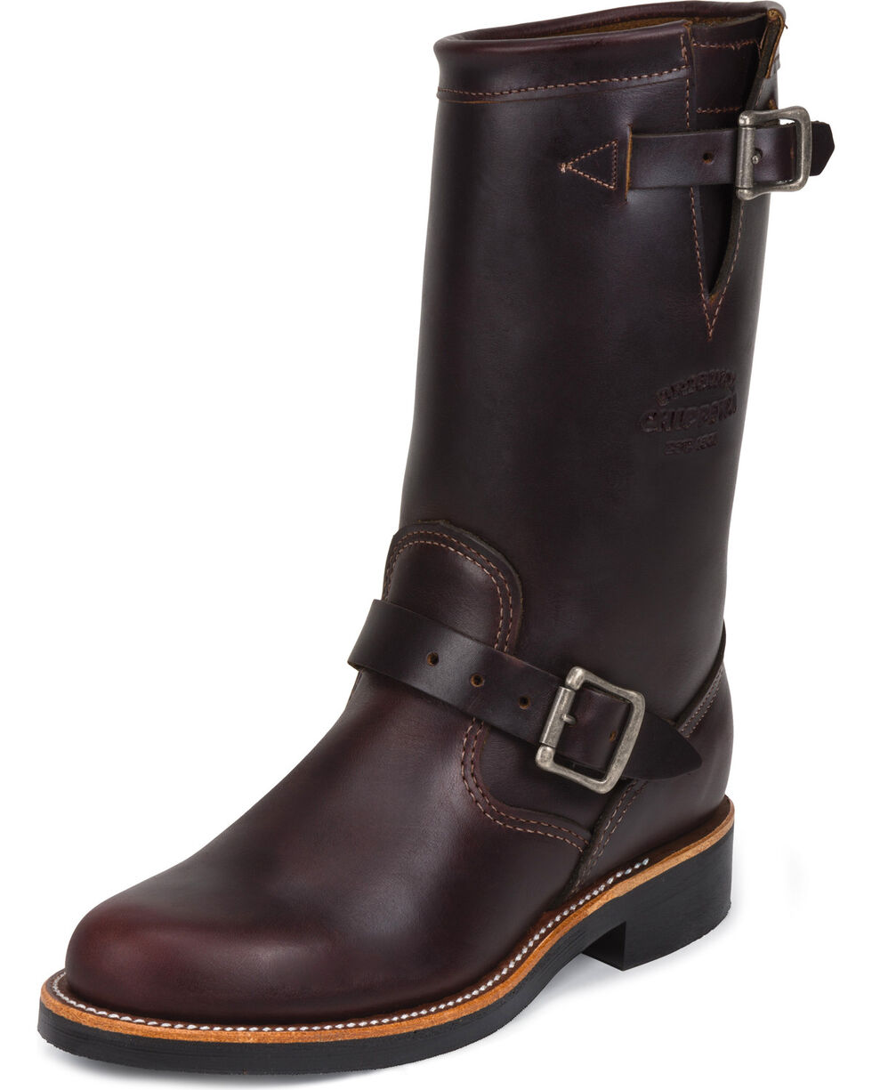 "Chippewa Women's  11"" Engineer Boots, Cognac, hi-res"